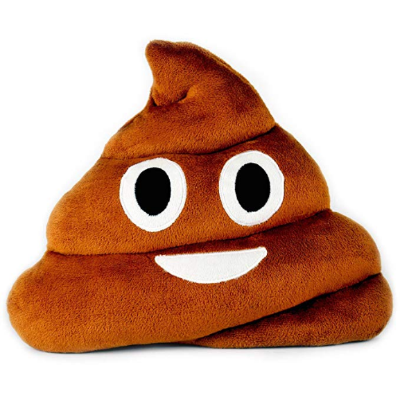 Coussin : Emoji Émoticône Binette Smiley Caca